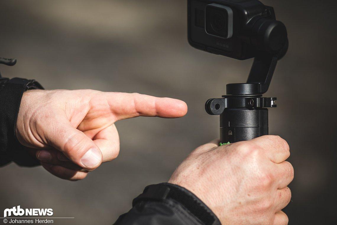 Der Befestigungsring ist mit allen normalen GoPro Halterungen kompatibel.
