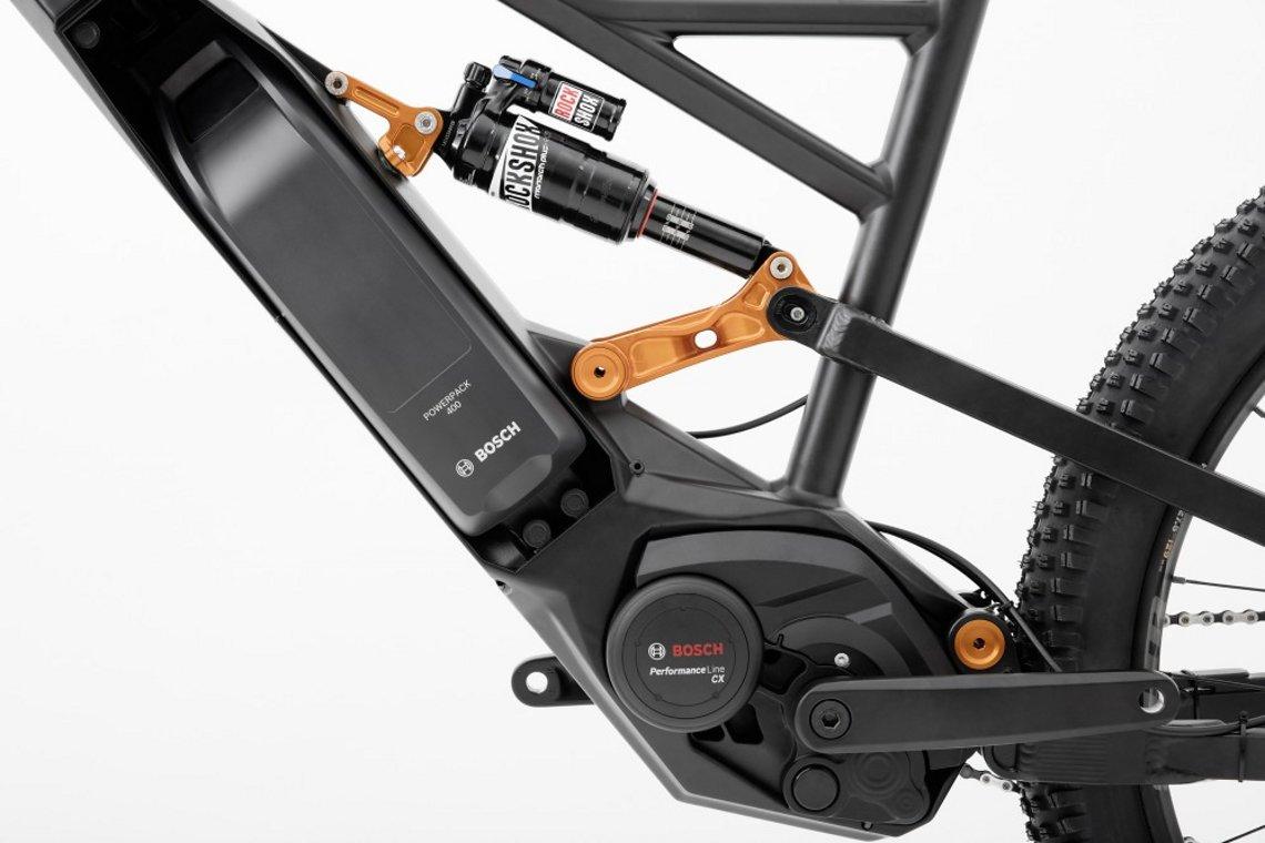Kompakt verbauter Bosch CX Motor