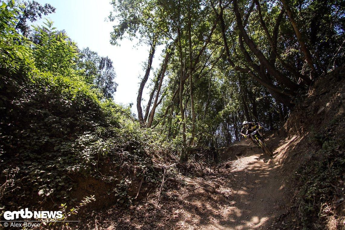 Hinab in den Canyon, ein schneller und flowiger Trail und ein Riesenspaß!