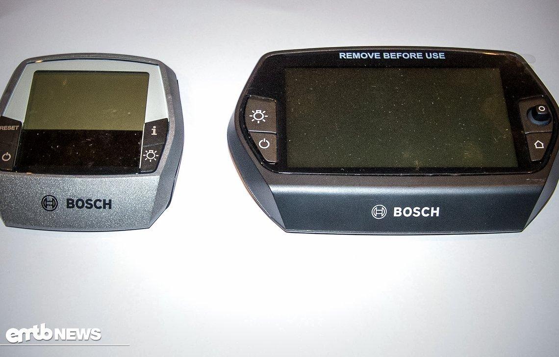 Links das Intuvia-Display und rechts das leistungsstarke Nyon-Display von Bosch