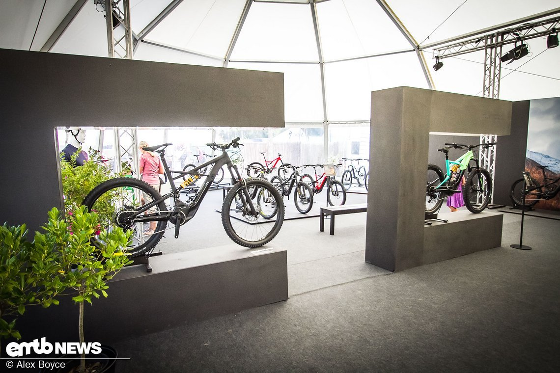 Ein Drittel der Ausstellung wird E-Bikes gewidmet, das zeigt die Wichtigkeit der neuen Kategorie auch für Specialized