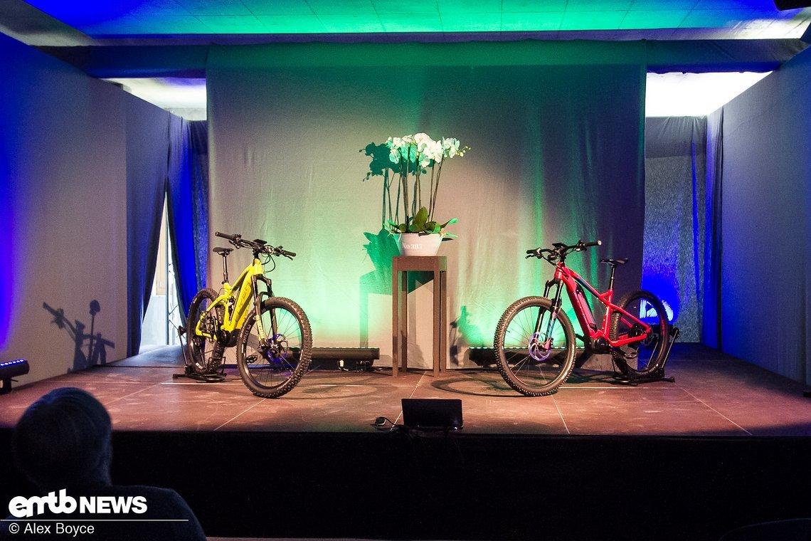 Die neuen Bikes werden vorgestellt …