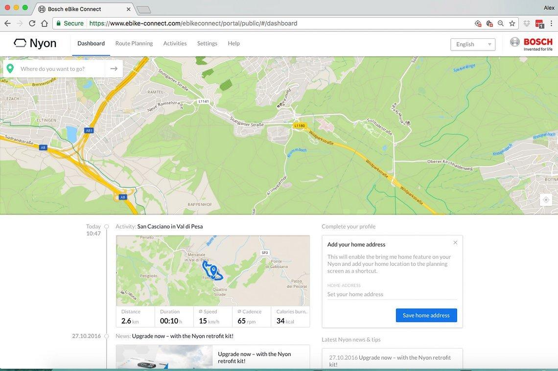 Die Startseite von E-Bike-Connect