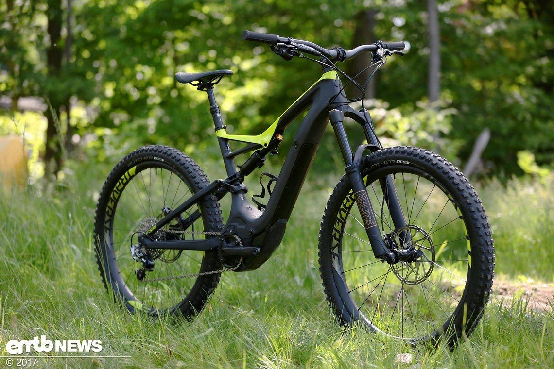 Stolz präsentiert sich das Specialized Levo mit Carbon-Chassis
