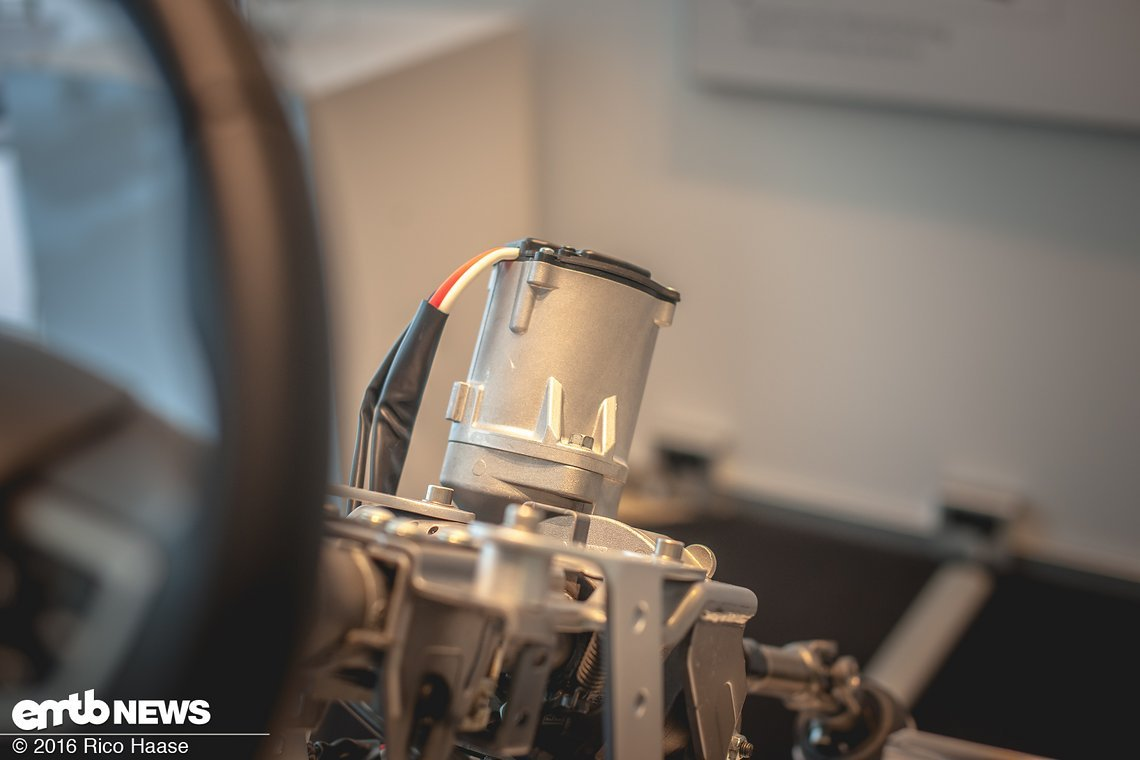 Vom Lenkungsmotor stammt der E-Bike-Motor ab