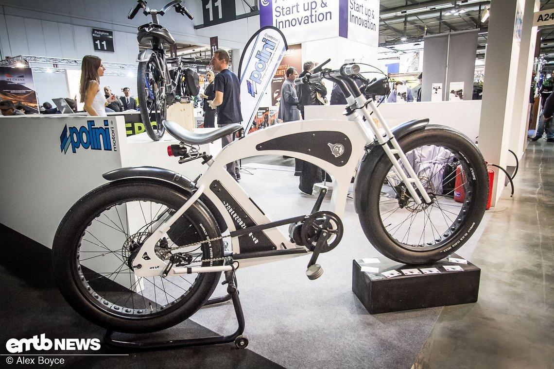Ein Konzept-E-Bike von Polini mit Nabenschaltung