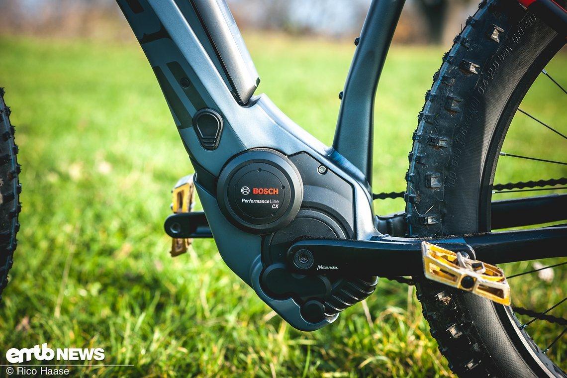 Der Bosch Performance CX-Motor wurde sehr schön in den Rahmen integriert