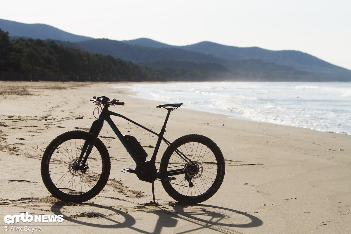 Der Radstand verleiht dem Bike auch bei hohen Geschwindigkeiten eine gute Stabilität