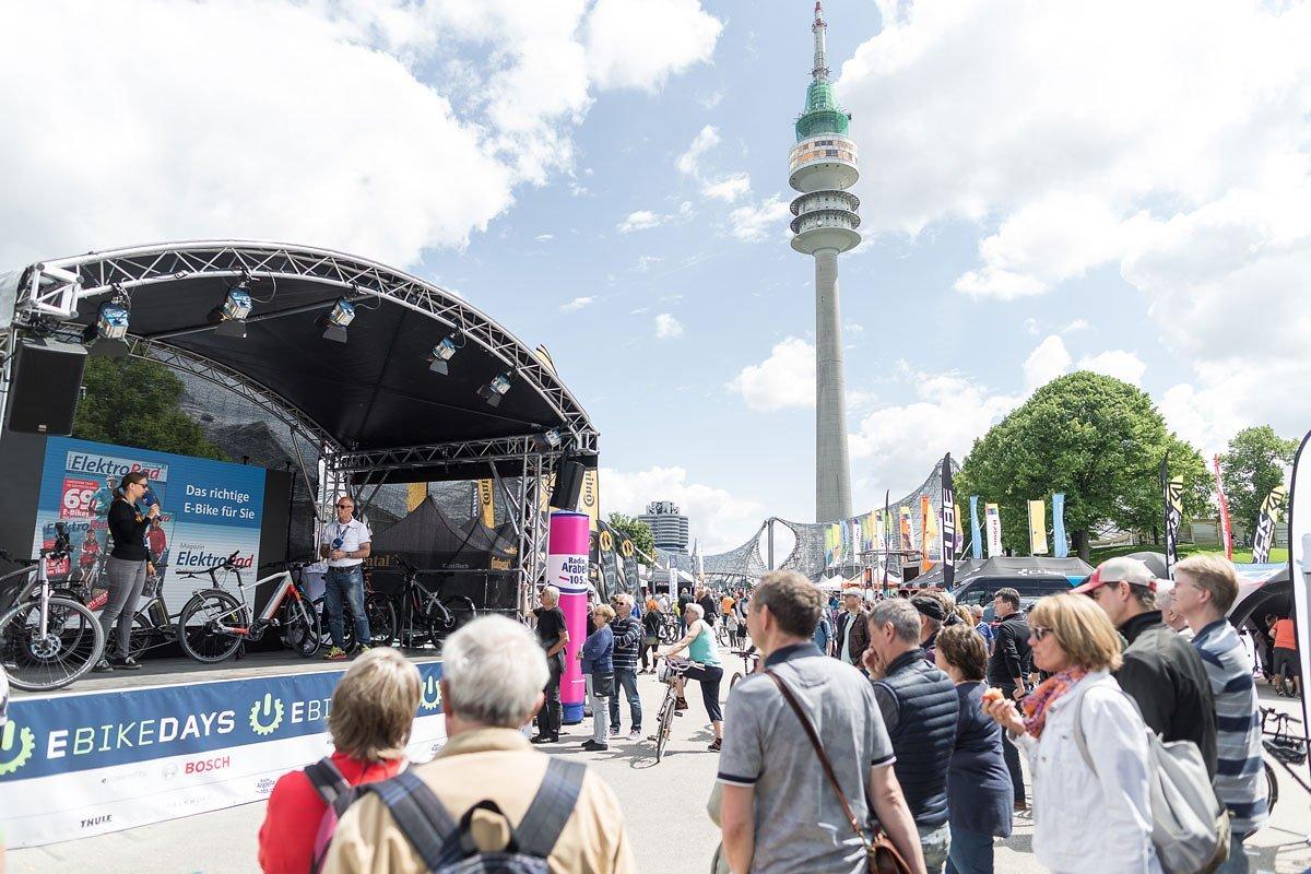 Zentraler Bühnenbereich im Münchner Olympiapark