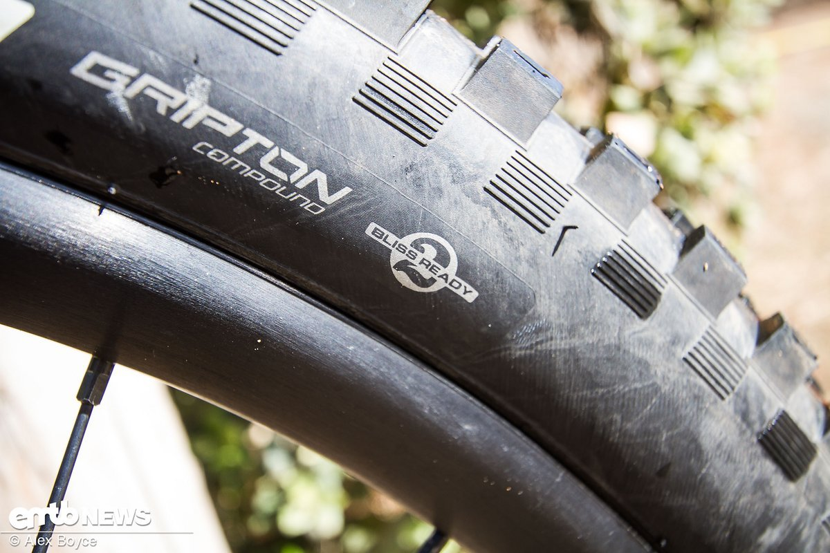 Der Reifen ist tubelessfähig und verfügt über Specializeds relativ weiche Gripton-Gummimischung.