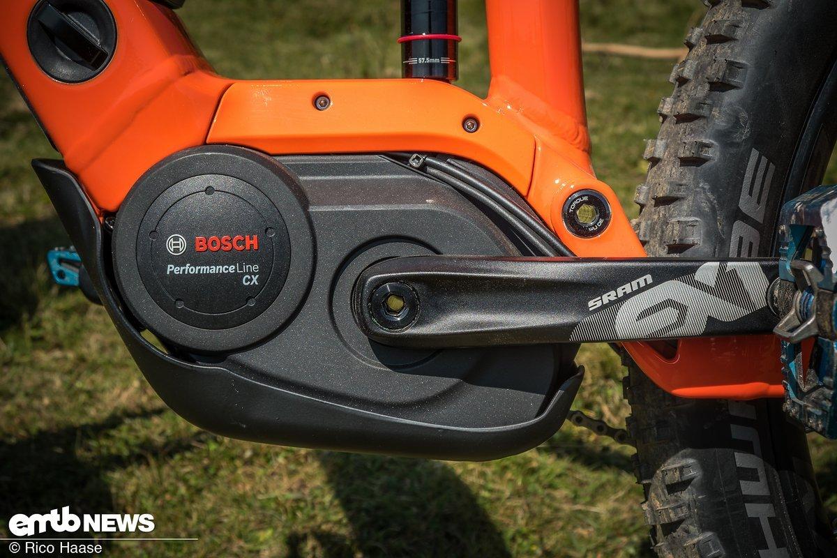 Der Bosch Performance CX-Motor ist schön im Rahmen integriert und gewohnt kraftvoll