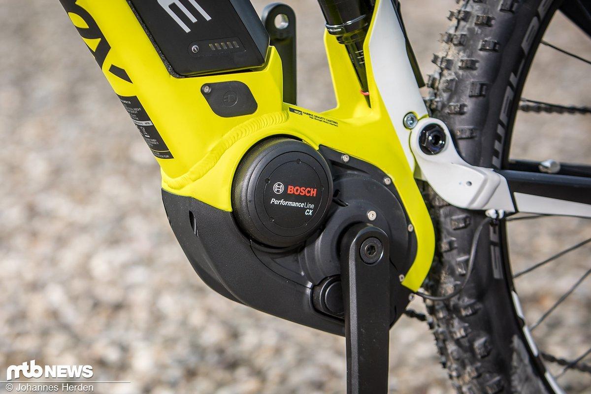 Das Bosch-Antriebssystem ist sehr gut in das Bike integriert.