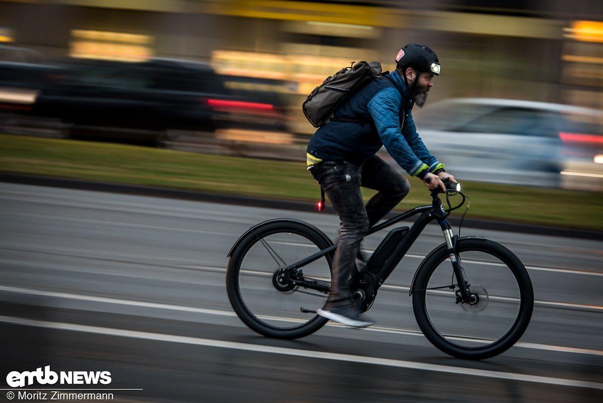 Mit über 40 km/h durch die Stadt