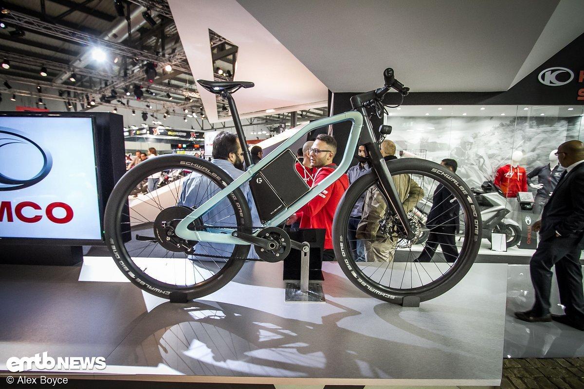Dieses radikale E-Bike von Kymco fanden wir bei ihrem Motorrad-Stand.