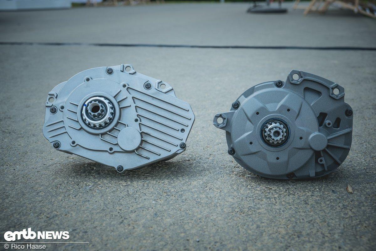 Alt gegen Neu – links der alte, rechts der neue Motor der Active Line