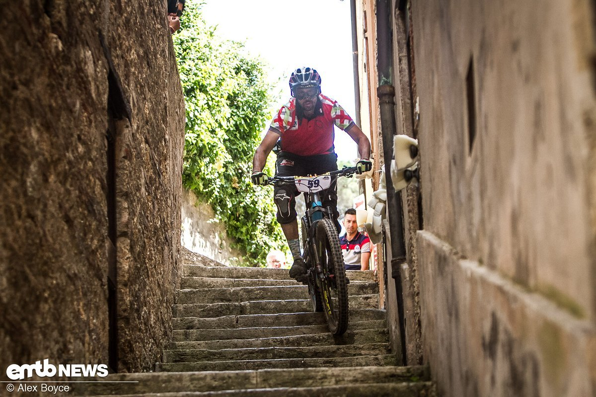 Marco Ceni in der Treppen-Sektion.