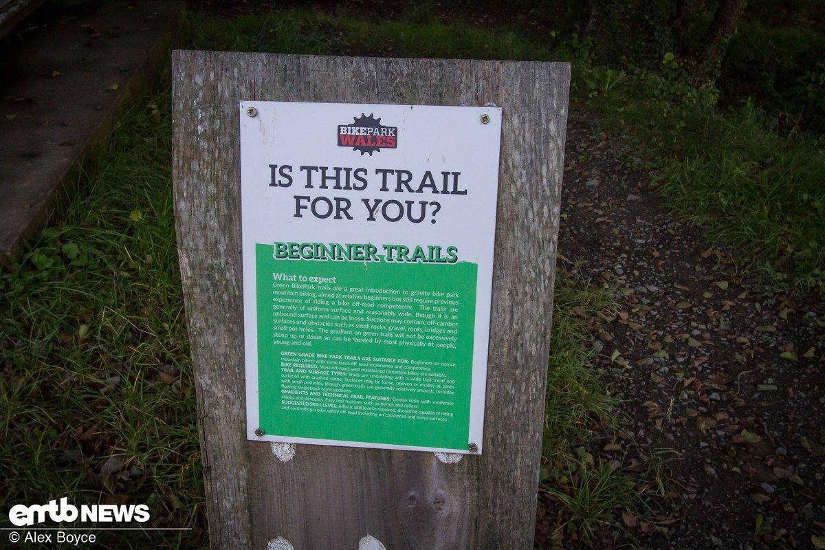 Jeder Trail hat eine detaillierte Erklärung, was einen erwartet