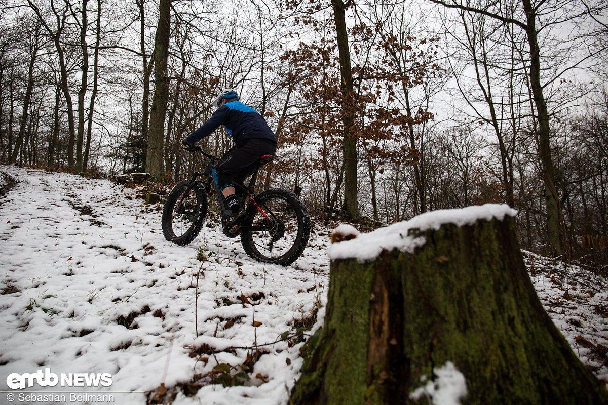 Auf dem Trail kann keine Steigung zu steil sein