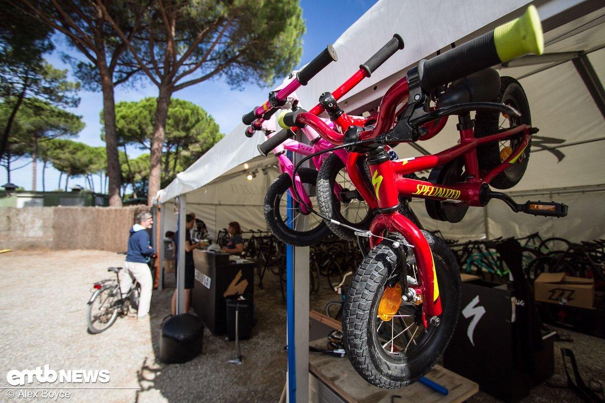 Kids test bikes...