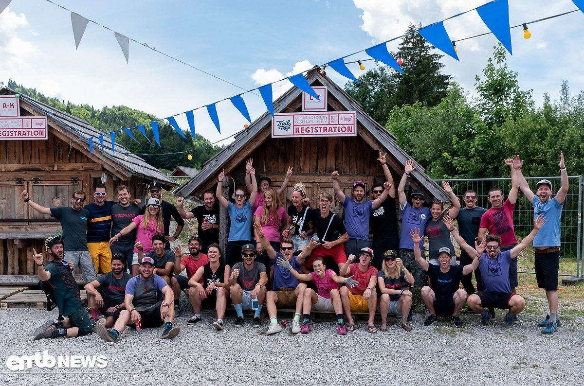 Die Brap Dudes Crew ist sichtlich happy, dass die Festival Besucher ein paar unvergessliche Tage in Slowenien hatten