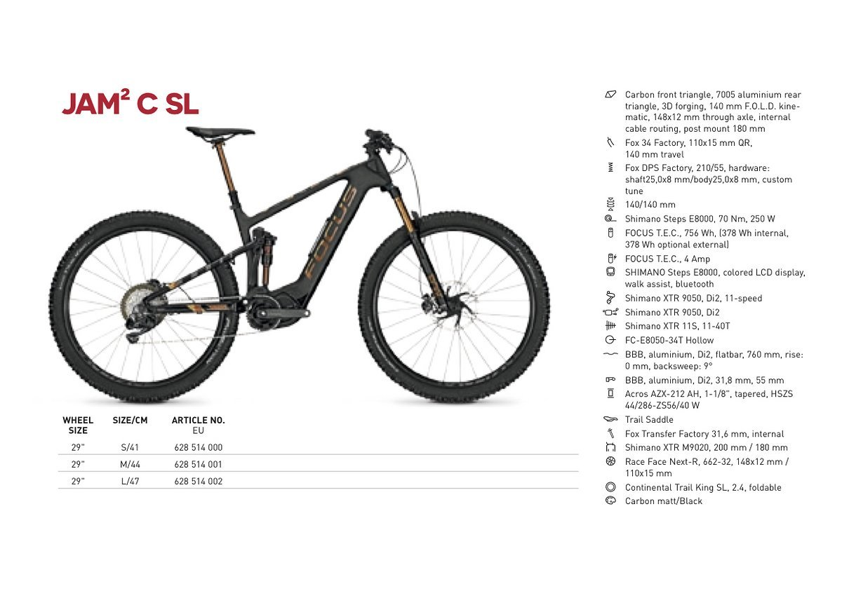 4642206c3d48a0 Focus JAM² C  The popular e-trail bike now available in Carbon ...