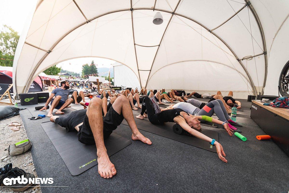 Von Blackroll gab es Kurse zum Regenerieren und Aktivieren der Muskeln