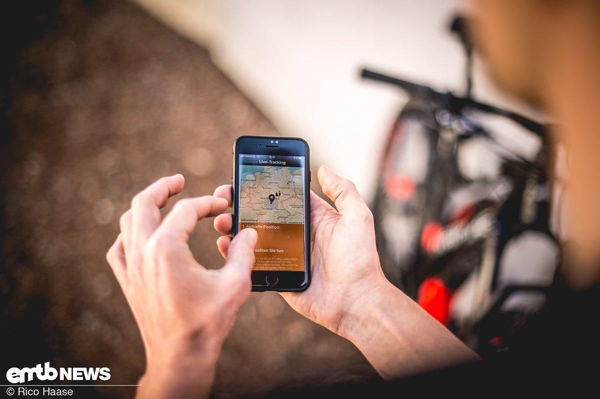 Live-Tracking ermöglicht es, sein E-Bike jederzeit orten zu können