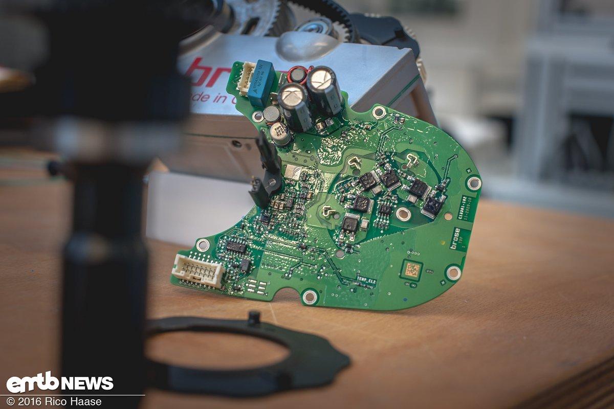 Die Elektronikplatine mit ihrem Lagesensor und Mikrochips