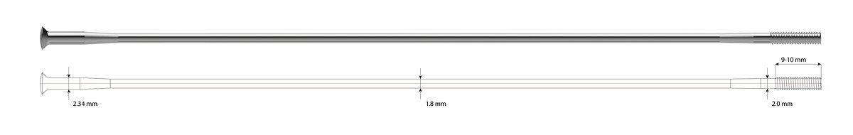 Die spezielle Speiche für die HYBRID-Systemlaufräder