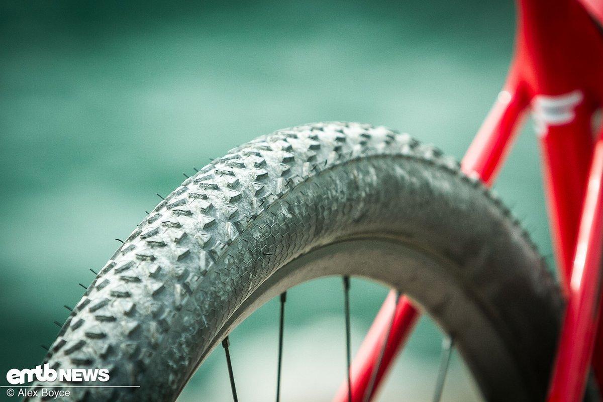 Die Reifen rollen sehr gut und sind leicht
