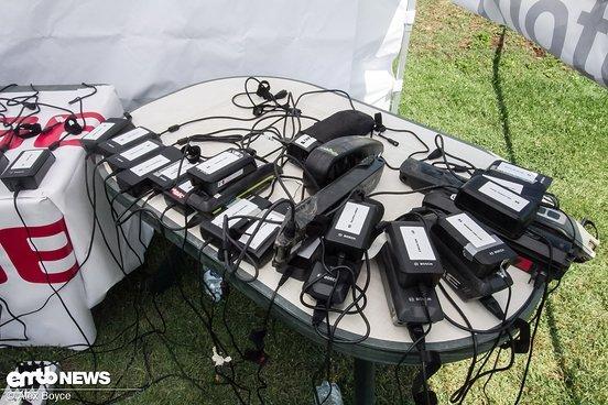 80 Batterien laden gleichzeitig.
