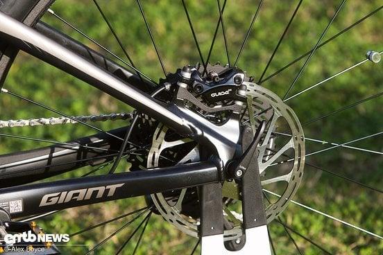 Die Sram Guide RE Bremse mit 200 mm Scheiben wusste zu überzeugen.