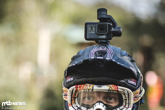 Auf dem Helm montiert ist die Kamera am geschütztesten
