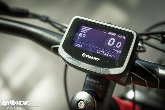 … und dem wirklich sehr gut ablesbaren RideControl Evo-Display verbinden.
