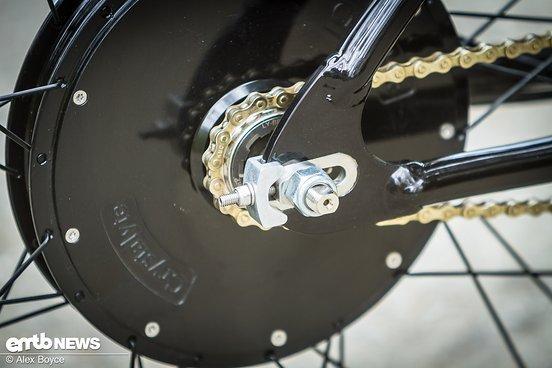 Das Scrambler setzt auf einen extrem leisen Nabenmotor.