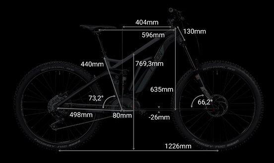 """Geometriedaten bei Rahmengröße 18"""""""