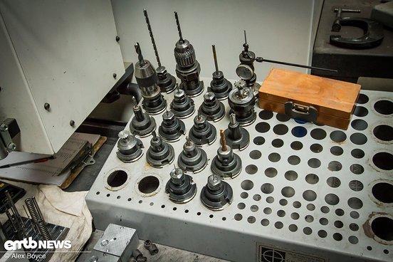 Der Werkzeughalter der Maschine