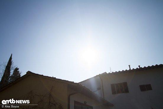 Auch bei strahlender Sonne …