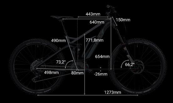 """Geometriedaten bei Rahmengröße 22"""""""
