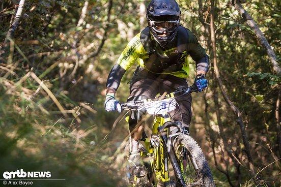 Andrea Tissioni trat ordentlich rein und war auch auf den Anstiegen locker über 25 km/h.