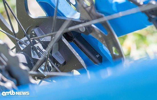 Cleveres Detail: der unauffällig platzierte Geschwindigkeitssensor