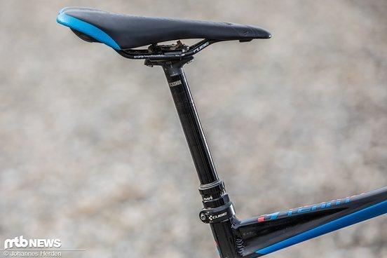 Das Rad ist ausgerüstet mit einer RockShox Reverb mit 150 mm Hub.