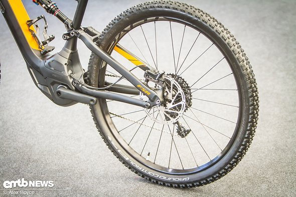 The 29er setup gives a different feel to the bike.