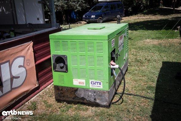 25 kW Generator für die Ladestation.
