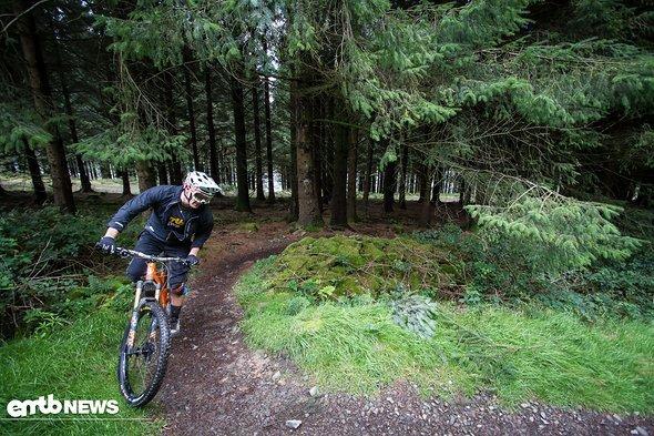 Mit unseren E-Bikes haben wir den Singletrail auf den Gipfel erklommen