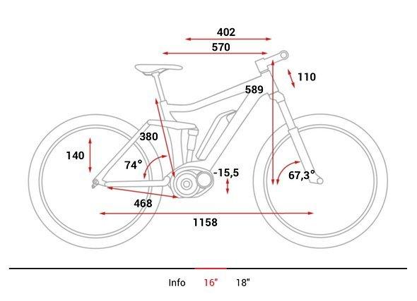 """Geometriedaten Rahmengröße 16"""""""