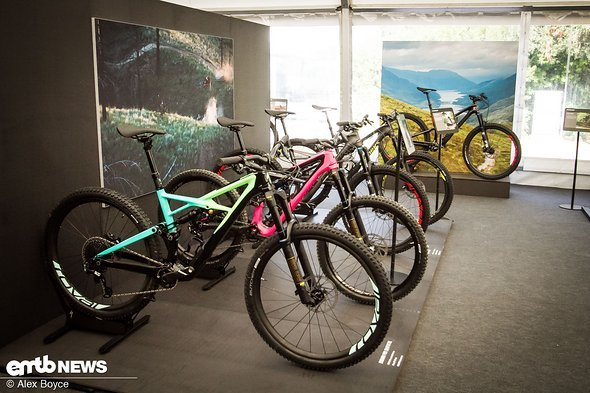 Trail and Enduro bikes have a heavy presence in the off-road section.