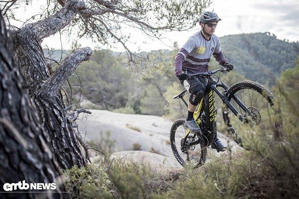 Extrem steile Uphills sind nicht die Spezialität des Canyon E-Bikes