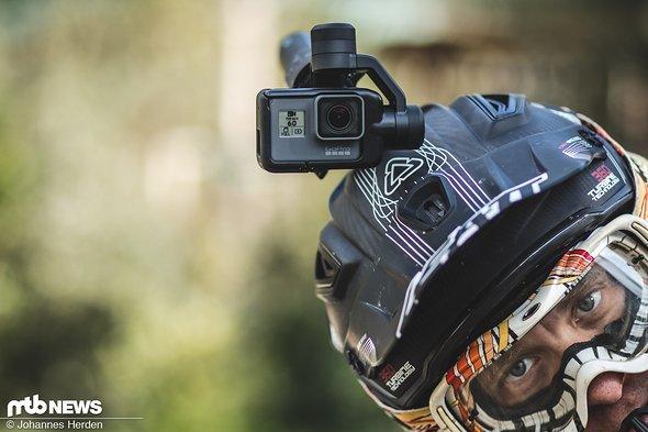 Die GoPro bleibt immer horizontal.