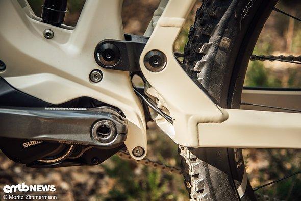 Das E-Bike-spezifische Advanced Pivot System (APS) von BMC